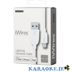 1.2mt iWires USB Plug to Lightning Connector Plug - White Lead